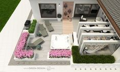 Projekt tarasu z jacuzzi - projekt indywidualny Green Design Jacuzzi, Outdoor Furniture, Outdoor Decor, Landscape Architecture, Sun Lounger, Spa, Green, Design, Home Decor