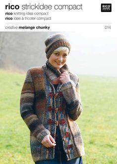 Jacket in Rico Creative Melange Chunky - 014. Discover more Patterns by Rico at LoveKnitting. The world's largest range of knitting supplies - we stock patterns, yarn, needles and books from all of your favorite brands.