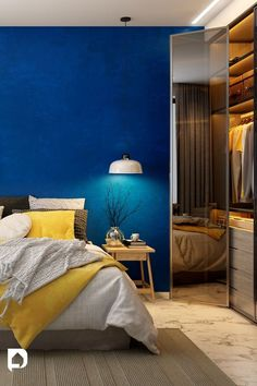 Aqua is a fabulous color to pick for the walls to beautify your Home. Bedroom Wall Paint Colors, Room Wall Painting, Blue Painted Walls, Blue Walls, Wall Paint Colour Combination, Aqua Blue Color, Home Look, House Design, Interior