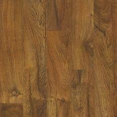 Style Selections 5 43 In W X 3 976 Ft L Brazilian Teak Embossed Laminate Wood