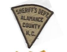 NORTH CAROLINA- ALAMANCE COUNTY SHERIFF'S DEPT- OLD STYLE