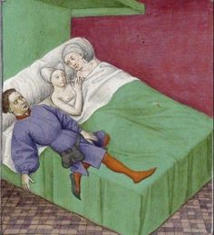 Medieval Bed, Medieval Life, Ancient Memes, Ancient Art, Medieval Manuscript, Illuminated Manuscript, Medieval Memes, Medieval Furniture, Medieval Paintings