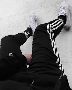 Adidas x champion by dress and sneakers outfit, high socks outfits, champion High Socks Outfits, Dress And Sneakers Outfit, Herren Style, Track Suit Men, Male Outfits, Tomboy Outfits, Swag Outfits, Mens Clothing Styles, Business Fashion