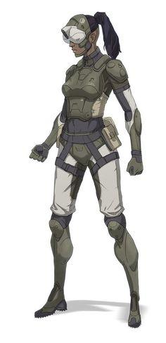 ArtStation - (W.I.P) Female Future Soldier , Loraine Howard III