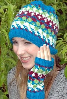 Lucky Hat & Mitts by Cheryl Beckerich Knits