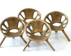 fifties patio | 1950's Doll House Furniture, Mi d Century Chairs For Patio Miniatures ...