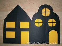 Sinterklaasknutsel huizen in de nacht