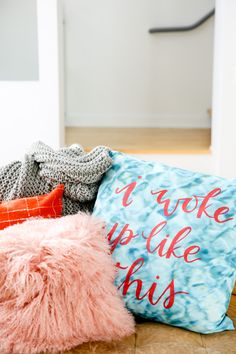 Ho Ho Home: Getting Ready for the Holidays at Home with DIY Pillows + Cozy Textiles - Paper and Stitch