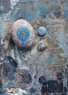 Intricate handpainted UK stone & tiny babies: Original Miniature Art on pebbles   eBay