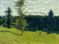 Claude Monet, The Train in the Country, 1870-1871  http://malinconie.tumblr.com/post/132101781506