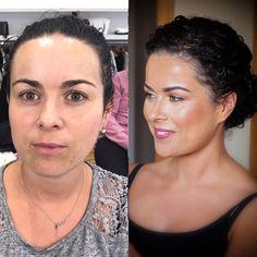 Antes y después maquillaje novia piel perfecta.tonos bronce