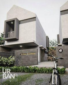 ➖➖➖➖➖➖➖➖➖➖➖➖➖➖➖➖➖➖➖ Team STUDIO URBAN 99 ( alumnus ITN-UGM-POLNES )  Luas lahan 15 x 20 rumah kakak beradik  Berbagi inspirasi sebuah fasad… Japanese Modern House, Modern Tropical House, Tropical Houses, Bamboo House Design, House Front Design, Modern House Design, Modern Architecture House, Facade Architecture, Residential Architecture