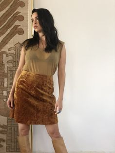 vintage crushed velvet skirt color : copper back zipper closure Each item has a vintage SOL and are authentically handpicked. Items may include slight imperfections as a result of their history, making each piece perfectly unique. All sales final. Velvet Skirt, Crushed Velvet, Vintage Skirt, All Sale, Im Not Perfect, Sequin Skirt, Unique, Skirts, How To Make