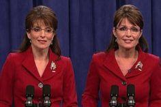 Tina Fey: America's favorite Palin ~ both, together on SNL