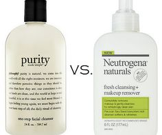 SKINCARE: Philosophy Purity vs. Neutrogena Naturals Cleanser Remover