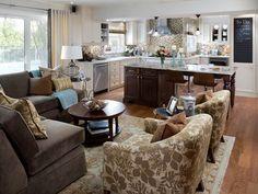 Candice Olson - Living Room/Kitchen
