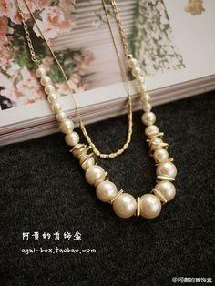 #necklace  #阿贵家每日一款# 这款项链真是超美,阿贵一眼就看上了!气质款,性价比超级超级高!超级推荐!!http://t.cn/zlUjqwg