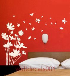 Vinyl Wall Decal Wall sticker Flower decal Nature Room Decor wall murals wall decor wall art-trailing flower. $38.00, via Etsy.