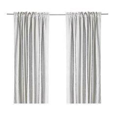 45d6ed07d IKEA 1 Vilmie Linje White  amp  Black Stripe Drapery Panel 57