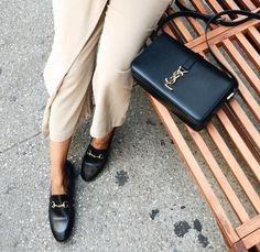 The Gucci Loafer looks great with a Saint Laurent crossbody bag.