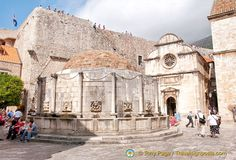 The Big Fountain of Onofrio in Dubrovnik Old Town.