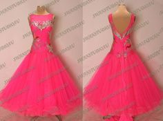 NEW READY TO WEAR PINK FIZZ STIFF NET BALLROOM COMPETITION DRESS SIZE 4-6