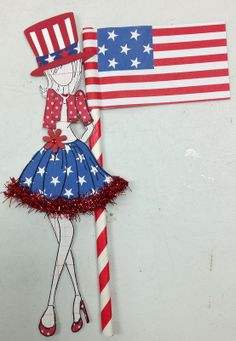 Prima Paper Dolls, Prima Doll Stamps, 4th Of July Fireworks, Fourth Of July, Paper Toys, Paper Crafts, Patriotic Images, Paper People, Dream Doll