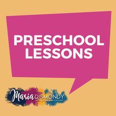 Preschool Lessons, Preschool Schedule