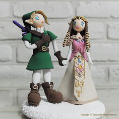 Link and Zelda wedding cake topper.... i'm a huge nerd, so i would totally do this