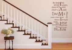 The family first and foremost - Wall sticker Family First, Wall Stickers, Stairs, Home Decor, Wall Clings, Stairway, Decoration Home, Wall Decals, Room Decor