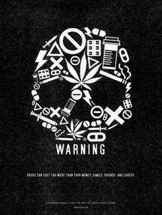☆ Drug Warning Poster b:: ArtistJude Landry ☆