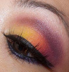 Hawaiian Sunset Make Up Tutorial (Pinks, Purples , Orange and Yellow)