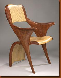 """Thatza Chair""  Bubinga and Baltic Birch"