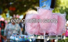 Cotton candy, funnel cake, and lemonade from the carnival!