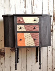 Repurposed Sewing Cabinet . Vintage . Painted by ACoatofPaint, $185.00