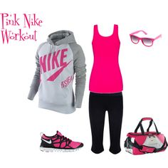 """""""Workout"""" by lisa-trent on Polyvore...Not sure about the workout part, lol, but this is something I would wear out and about running errands"""