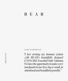 B E A R (@bear.ltd) • Instagram photos and videos Daily Vitamins, Our Life, Immune System, Bear, Thoughts, Photo And Video, My Love, Math Equations, Videos