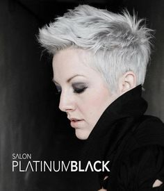 platinum pixie / short hair