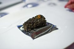El Bulli, Spain    Course 13: Black Sesame spongecake with miso