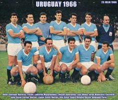 Uruguay team group for the 1966 World Cup Finals.
