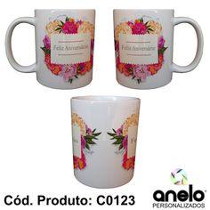 Canecas - Aniversário www.anelopersonalizados.com.br