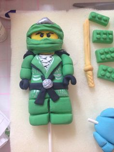 Handmade Fondant NINJAGO cake decorations/topper
