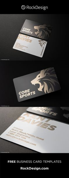 Durable creative black and white metal cards - CORE SPORTS Business Pens, Metal Business Cards, Gold Business Card, Luxury Business Cards, Elegant Business Cards, Business Card Case, Business Card Design, Free Business Card Templates, Free Business Cards