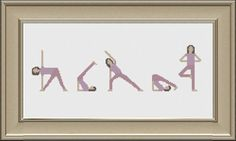 Please note that this is cross stitch pattern and not a finished product.  This is a fun cross stitch pattern for any yoga fan!  This pattern includes 2 downloads. Each download includes a list of the 5 colours you will need to complete the pattern.  The chart measures 180 x 50 stitches and 12.8 x 3.5 inches.  This chart uses full stitches only.  You will require 14 count Aida fabric.  This pattern will be available for immediate download, via an email sent by Etsy, as soon as payment is…
