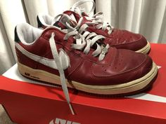 more photos a5467 d08f9 Pre-owned Nike Air Force 1 low Red White-Obsidian (Puerto Rico