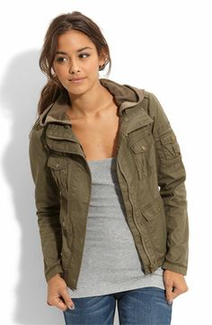 Sashimi Stud Detail Twill Military Jacket (Juniors)