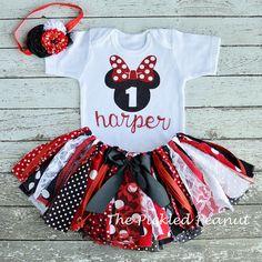 Minnie Mouse Birthday Shirt Onesie Minnie by ThePickledPeanut