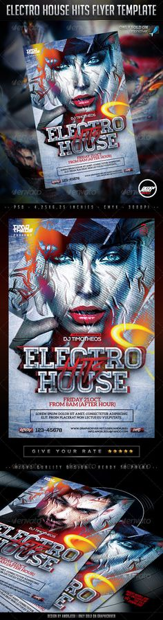 Electro House Hits Flyer Template