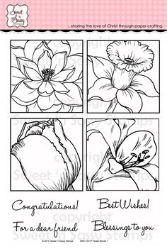 Sweet 'n Sassy Stamps - Flower Blocks 1 Clear Stamp Set, $26.00 (http://www.sweetnsassystamps.com/flower-blocks-1-clear-stamp-set/)