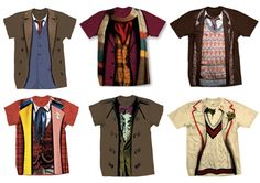 I want EVERYONE of these #DoctorWho t-shirts!! #DrWho @bbcdoctorwho